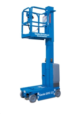 Rental store for 12  ELECTRIC VERTICAL MAST LIFT RUNABOUT in Santa Clara CA