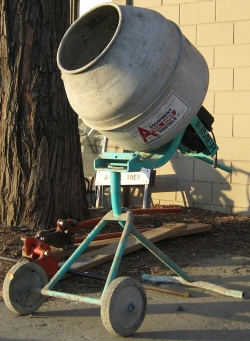 Used Equipment Sales 2 1 2  CU FT TRIPOD ELEC CONCRETE MIXER in Santa Clara CA